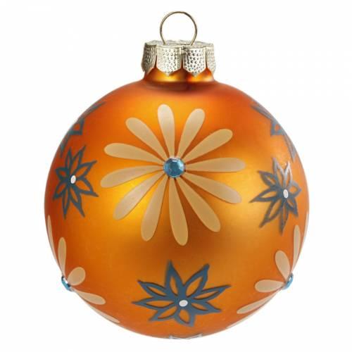 Palla di Natale Fantasia Arancione N°2 (6 cm) - Vetro