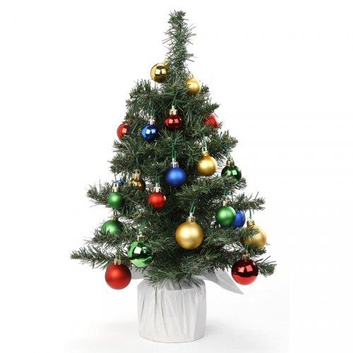 Kit Abete Piccolo (38 cm) + 28 Palle di Natale Multicolore