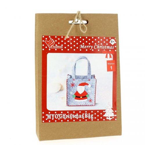 Kit Fai da Te per Mini Gift Bag Babbo Natale - Feltro