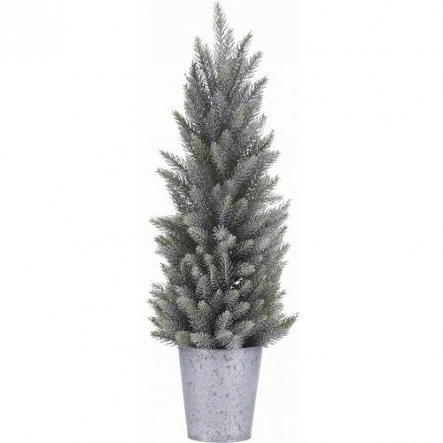 Mini Abete Innevato (30 cm) - Vaso di Zinco