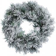 Ghirlanda di Natale abete innevato (50 cm) - Artificiale