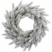 Ghirlanda di Natale Abete ghiacciato (50 cm) - Artificiale