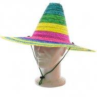 Sombrero a righe verde/giallo/rosa