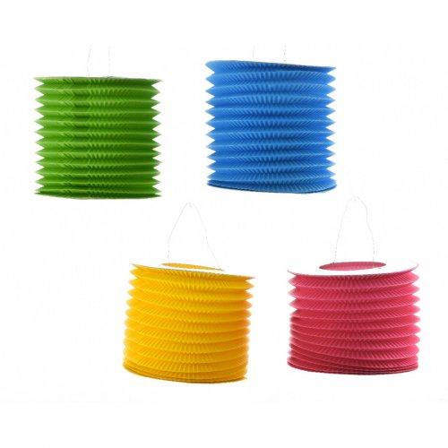 1 lanterna deco colore pop (27 cm) - Carta
