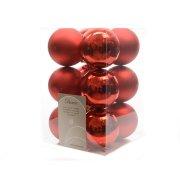 12 Palle di Natale Rosso Matte/a Specchio (5,5 cm) - Plastica