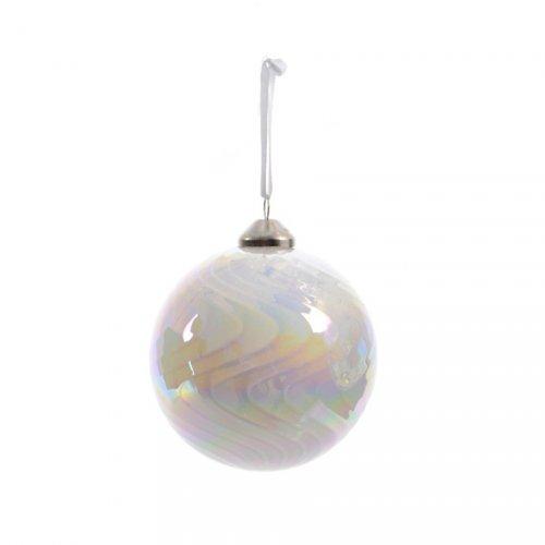 Palla di Natale Bolla Perlata (8 cm) - Vetro