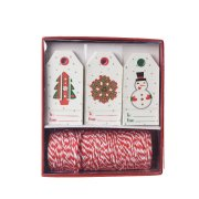 Kit Etichette regalo Albero di Natale / Corona / Pupazzo di neve