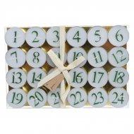 24 candele scalda-vivande calendario dell'Avvento
