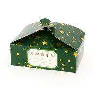 6 Scatole Regalo Verde Natalizio con Stelle/Tinta Unita - Cartone