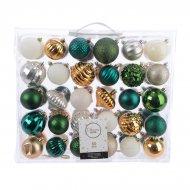 60 Palle di Natale Verde/Oro/Argento/Bianco