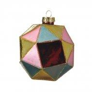 3 Palle di Natale Arlecchino Multicolore (8 cm) - Vetro