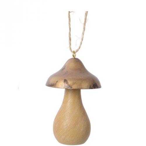 1 Addobbo Natalizio Funghi a Punta (7,5 cm) - Legno