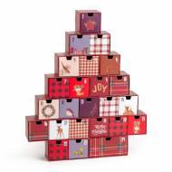 Calendario dell'Avvento - Vintage Merry Christmas