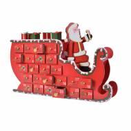 Calendario dell'Avvento Slitta di Babbo Natale (35 cm) - Legno