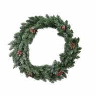 Corona Albero di Natale effetto Ghiacciato (40 cm) con Piccole Decorazioni - Artificiale