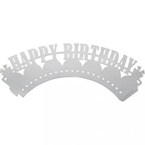 12 Pirottini per Cupcakes Happy Birthday