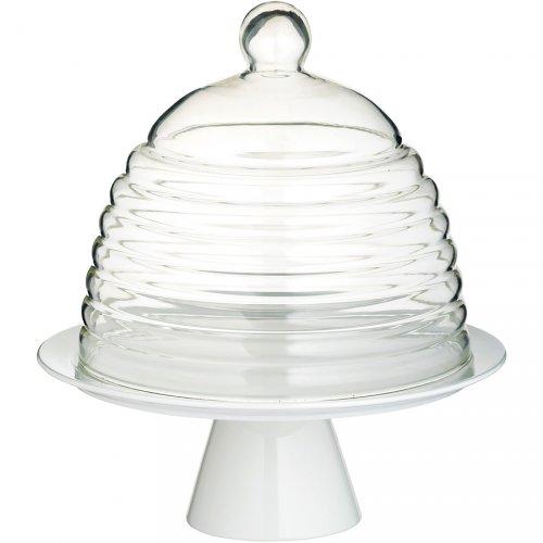 Tortiera con cloche (porcellana e vetro)