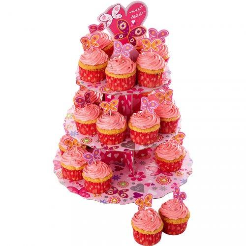Espositore e Kit decorazione Cupcake Farfalle