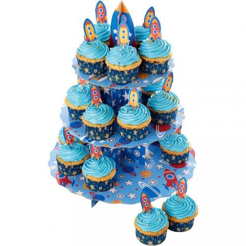 Set espositore e decorazioni Cupcake Razzo