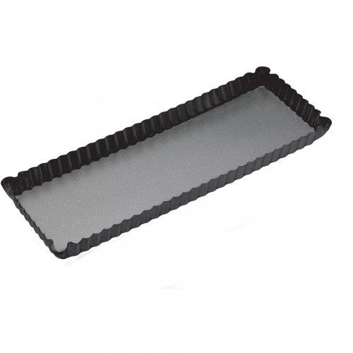 Stampo lungo fondo removibile (36 x 13 cm) - Metallo
