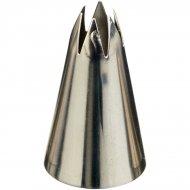 Beccuccio glassatura stella aperto medio (9 mm) - Acciaio inox