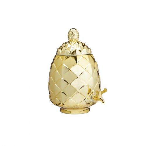 Fontana per bibita Ananas oro (6 litri) - Vetro