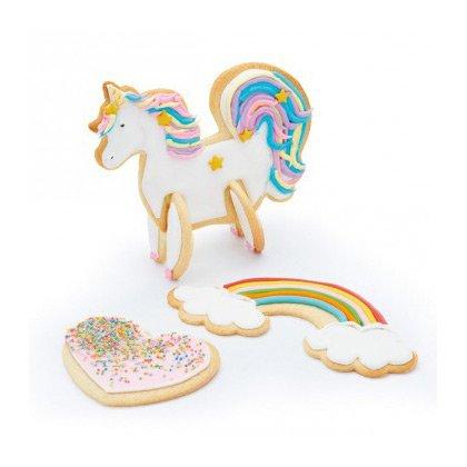 Set tagliabiscotti Unicorno 3D