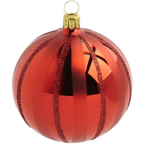 Palla di Natale Rosso Natalizio (10 cm) - Vetro