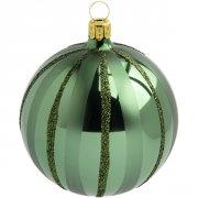 Palla di Natale Verde Natalizio (10 cm) - Vetro