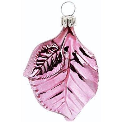 Palla di Natale Petalo di Rosa (6 cm) - Vetro