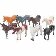 4 figure di cavallo in plastica