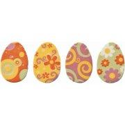 4 Piccole uova piatte decorative