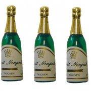 4 Bottiglie di Champagne di plastica
