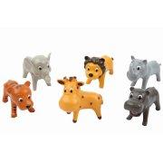 6 animali della giungla in plastica