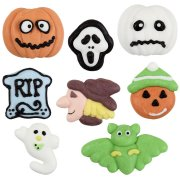Assortimento di 6 figurine in pasta di zucchero per Halloween