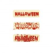 5 Targhette Halloween al cioccolato bianco