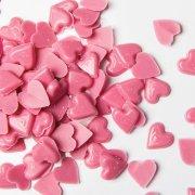 Sacchetto con cuori rosa al cioccolato (50 g)