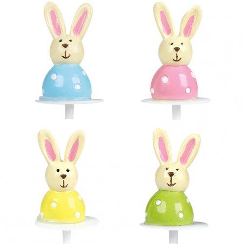 4 Stecchini con conigli pastello