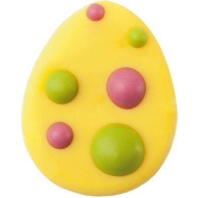 6 Decorazioni piatte - Uova colorate