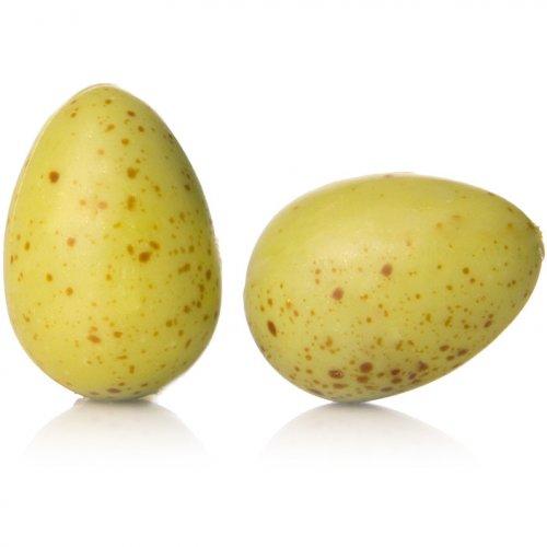 2 Uova verdi al cioccolato bianco (3 cm)