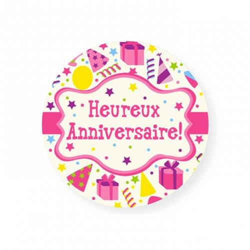 Mini disco di zucchero Buon compleanno Coriandoli (7,5 cm)