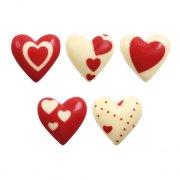 10 Cuori rossi e bianchi al cioccolato