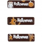 3 Mini targhette di Halloween al cioccolato fondente (4 cm)