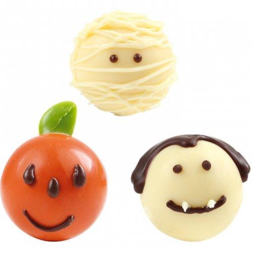 4 Palline di Halloween al cioccolato