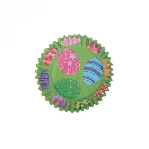 25 Pirottini verdi con uova pasquali per cupcake
