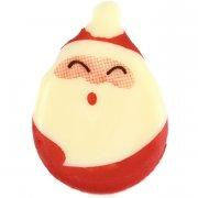 2 teste di Babbo Natale (4 cm) - Cioccolato bianco