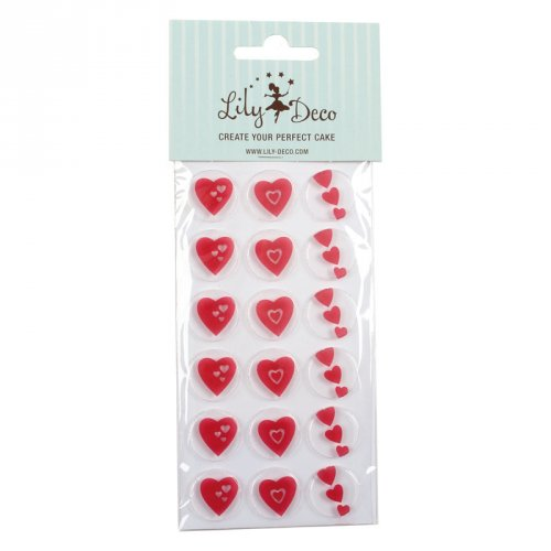 Stampo 18 cioccolatini - Cuori