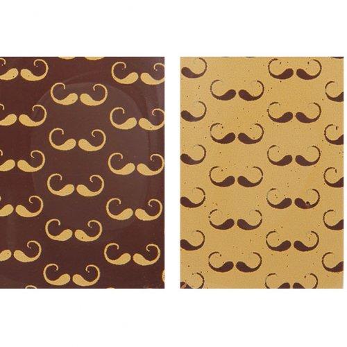 4 Targhette con baffi (3,5 cm)