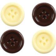 2 Bottoni cioccolato al latte + 2 bottoni cioccolato bianco