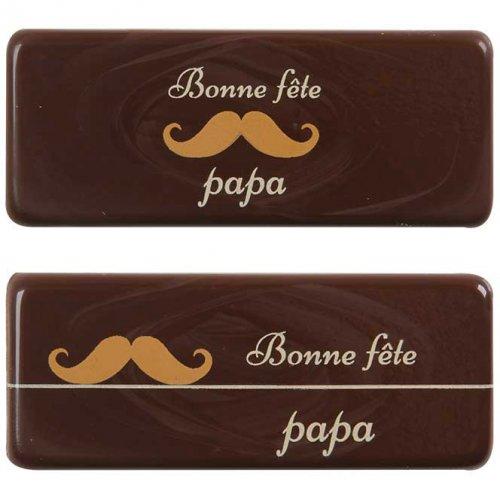 """2 Targhette """"Bonne Fêtes Papa"""""""